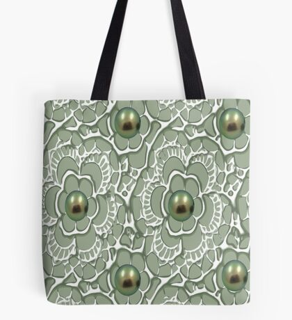 Mouse & Dragonfly /Lace & Pearls 1631 Views Tote Bag