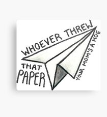 Whoever threw that paper vine Metal Print