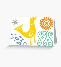 Bird Delight Card - golden Greeting Card