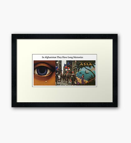 In Afghanistan, They Have Long Memories Framed Print