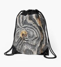 Wood knot .3 Drawstring Bag
