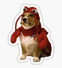 Corgi in Lobster Costume Sticker