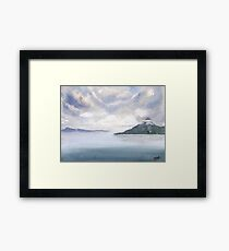 Misty Isle Framed Print