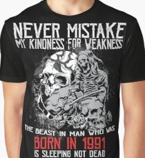 Happy Birthday Horror - Born In 1991 Graphic T-Shirt