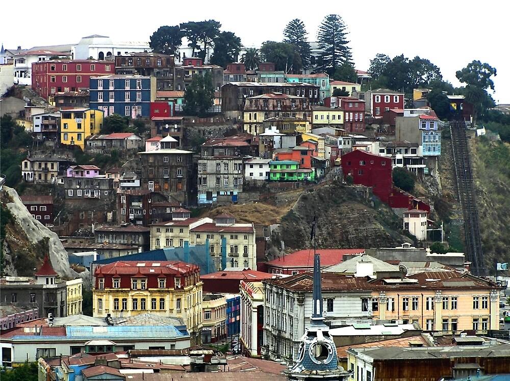 Valparaíso with the Ascensor Artilleria, Valparaíso by Christopher Biggs