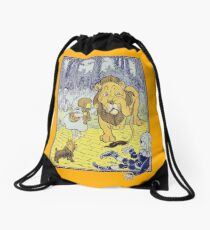 The Wonderful World of Oz by L. Frank Baum original illustration Drawstring Bag