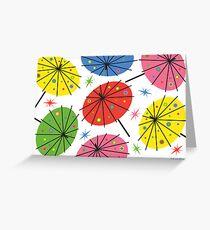 Parasols - card Greeting Card