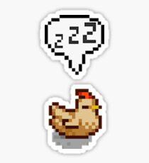 Stardew Valley: Sleeping White Chicken Sticker