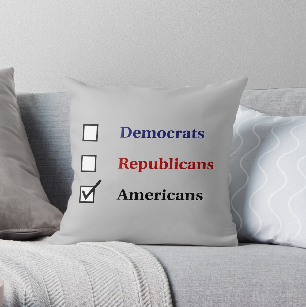 Election Ballot - Americans for Light T's Throw Pillow