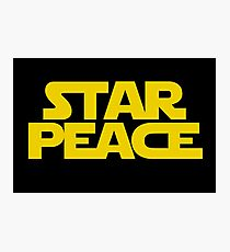 STAR PEACE (Yellow letters - Star Wars funny parody) Photographic Print