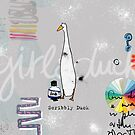 Scribbly Duck by Girl & Duck