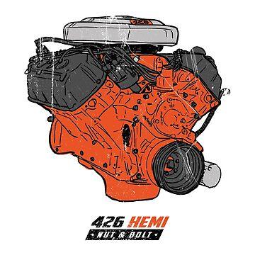 Dodge Chrysler Hemi 426 V8 Muscle Car Mopar Engine by nutandbolt