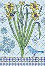 Blue Bird Ornamental - card by Andi Bird