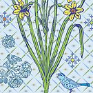 Blue Bird Ornamental - card by Andi Bird