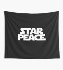 STAR PEACE (White letters - Star Wars funny parody) Wall Tapestry