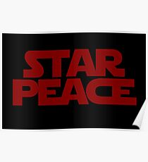 STAR PEACE (Red letters - Star Wars funny parody) Poster