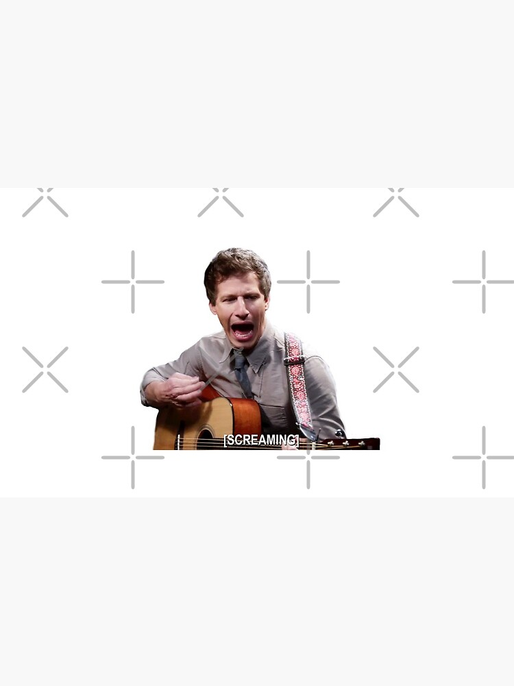 Jake Peralta screaming with guitar by ellalucy