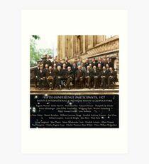 1927 Solvay Conference (spacetime bg), posters, prints Art Print