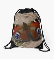 Peacock Butterfly Drawstring Bag
