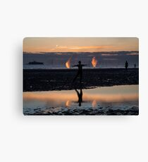 Anthony Gormley's Another Place Canvas Print