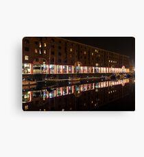Royal Albert Dock Reflection Canvas Print