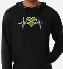 Jamaica Text Flag Jamaican Pride Rasta Kingston Hoodie Pullover