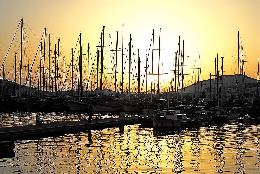 Sunset in Bodrum, Turkey by Johannes  Huntjens