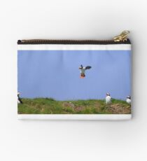 Puffin Coming into Land Studio Pouch