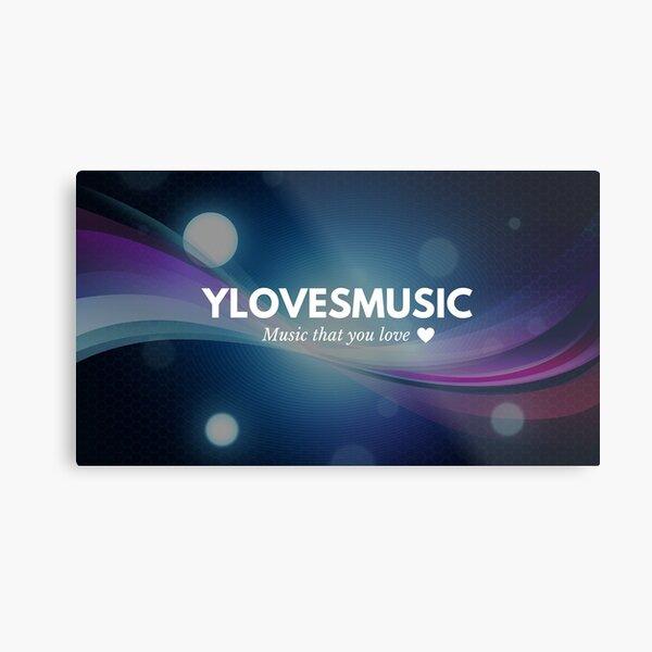 YlovesMUSIC channel banner Metal Print