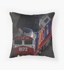 Minature Railway Boffin Throw Pillow
