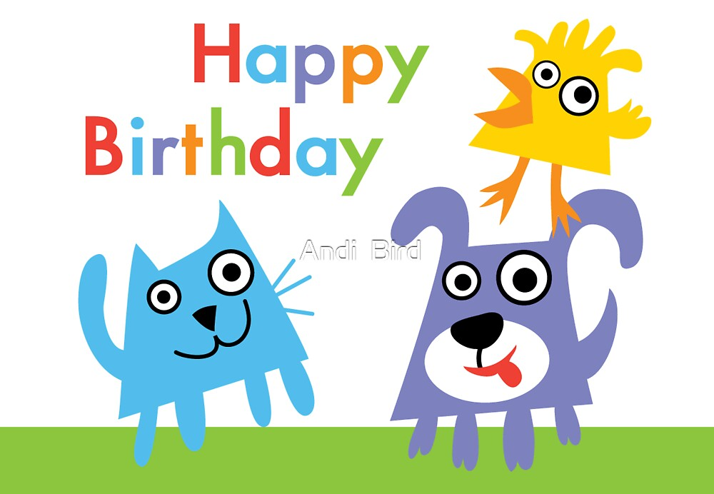 Critter Love Birthday - card by Andi Bird