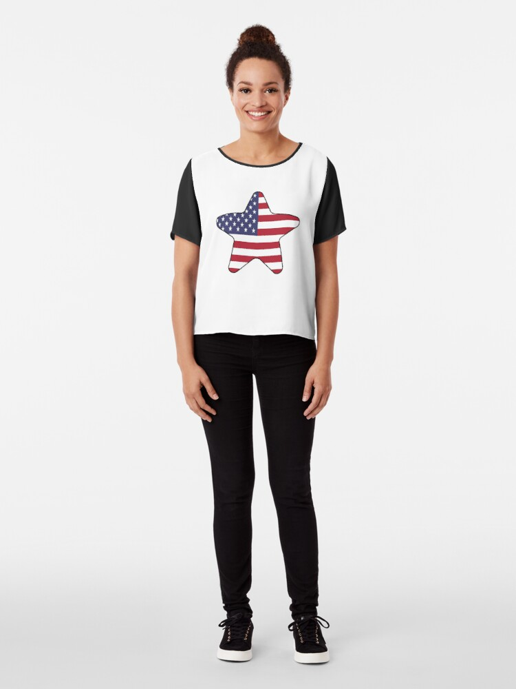 Vista alternativa de Blusa American Flag Starfish Happy 4th of July