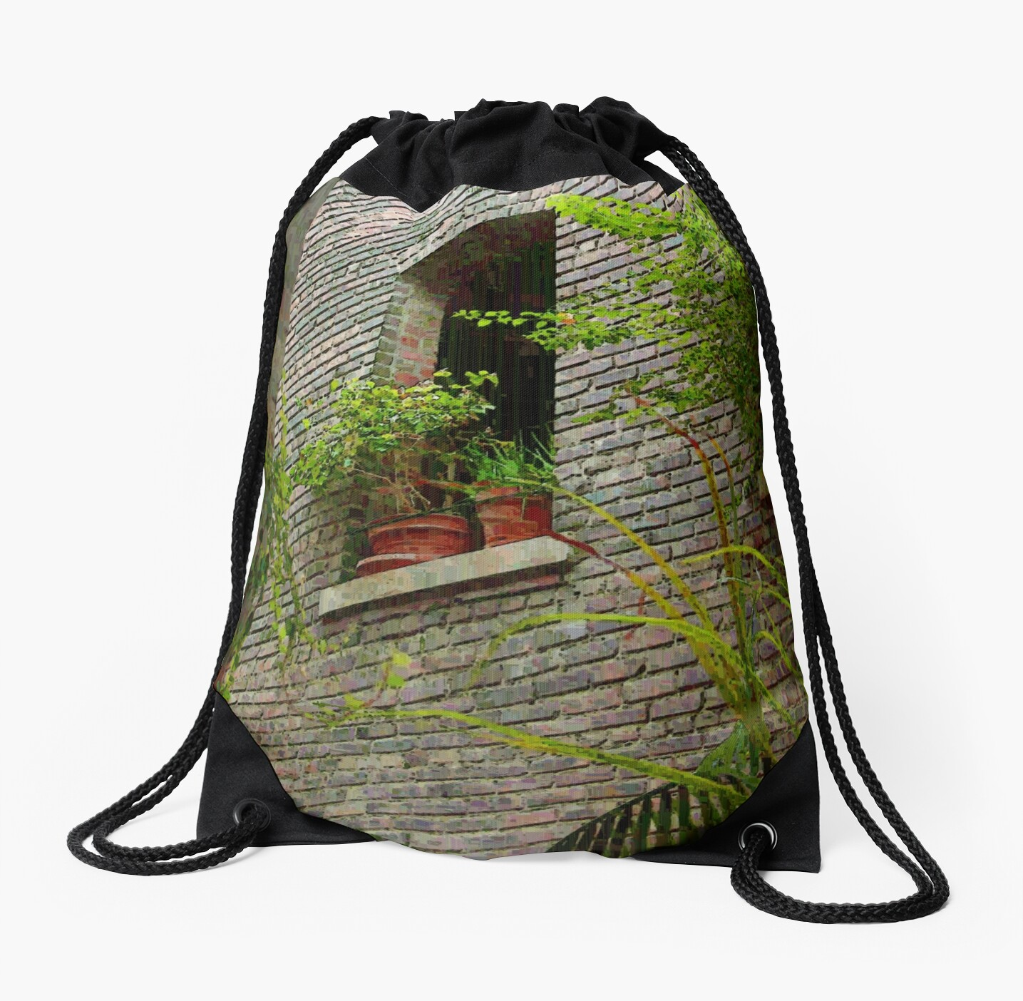 Brick with Greenery by RC deWinter