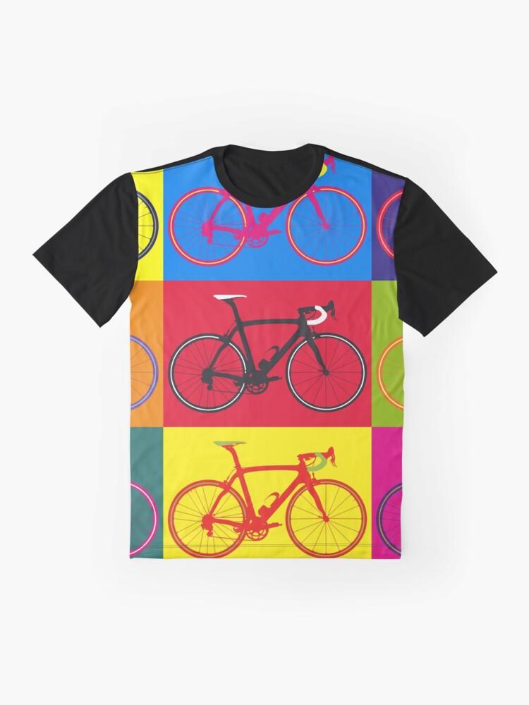 Alternate view of Bike Andy Warhol Pop Art Graphic T-Shirt