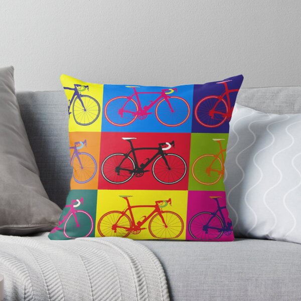 Bike Andy Warhol Pop Art Throw Pillow