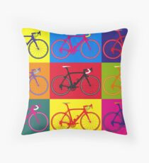 Bike Andy Warhol Pop Art Throw Pillow