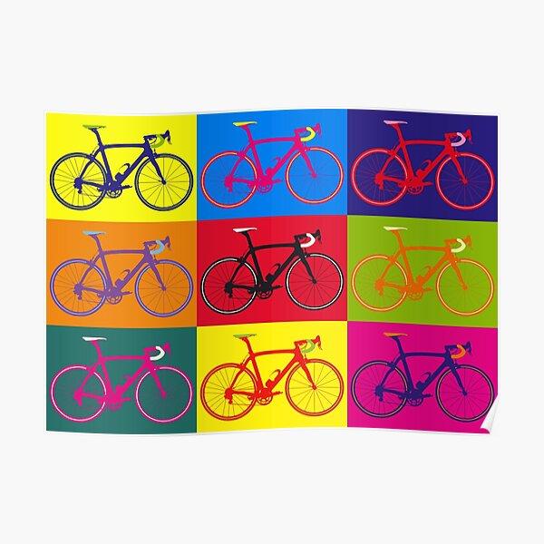 Bike Andy Warhol Pop Art Poster