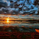 Sunset over warners bay by Throwing  Buckets Magazine