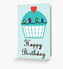 Cupcake with Heart - card Greeting Card
