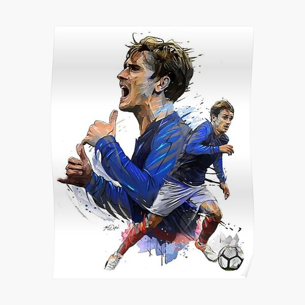 Jugador de fútbol de Antoine Griezmann Póster