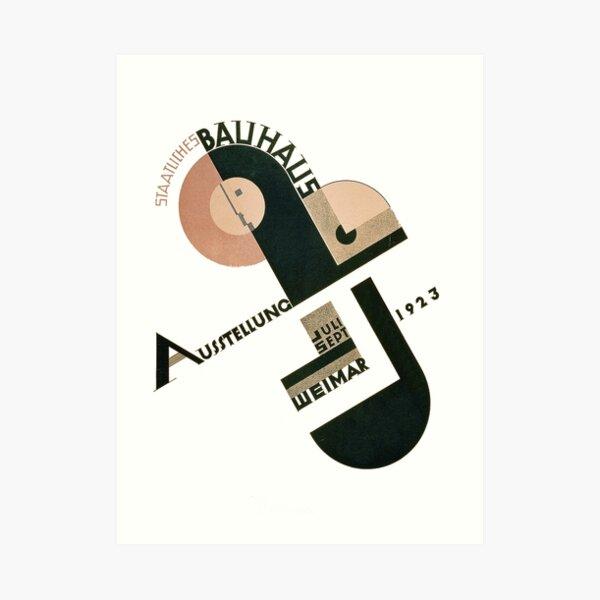Logotipo Bauhaus en 1923 Weimar Anuncio Lámina artística
