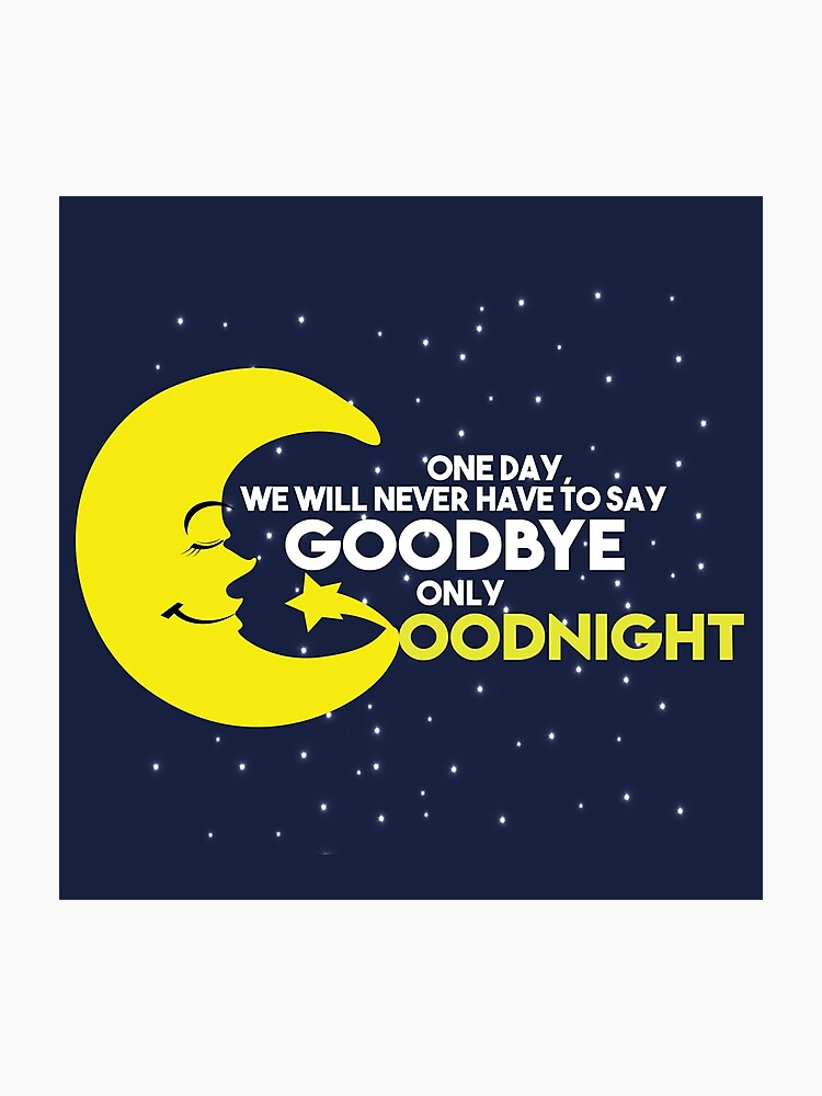 Sleep Goodnight Moon never have to say good bye love quotes - Gift Idea    Photographic Print