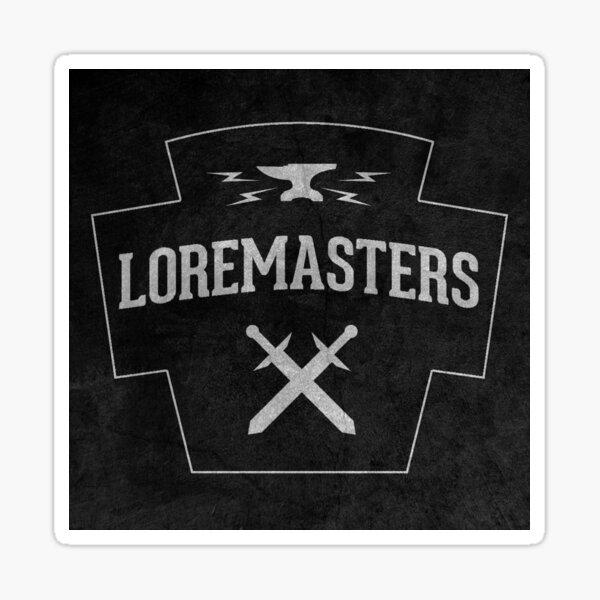 Loremasters - Sticker Sticker