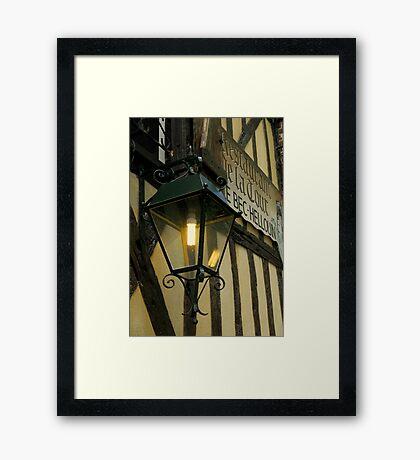 Restaurant de la Tour, Le Bec Hellouin Framed Print