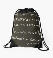 Disclamer Drawstring Bag