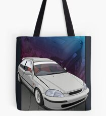 Civic EK /  EJ with a B16 backdrop Tote Bag