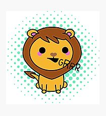 Aki the kawaii lion Photographic Print