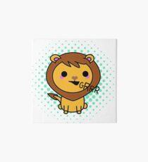 Aki the kawaii lion Art Board