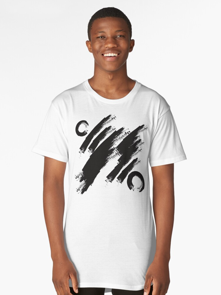 abstract brushstroke  Long T-Shirt Front