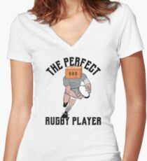 Perfect Rugby Player Women's Fitted V-Neck T-Shirt